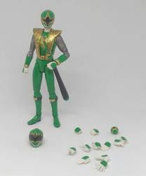 custom shf shurikenger green samurai ranger