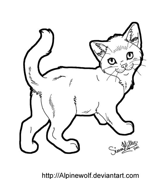 Line Art Kitten : Free kitten lineart by wickedspecter on deviantart