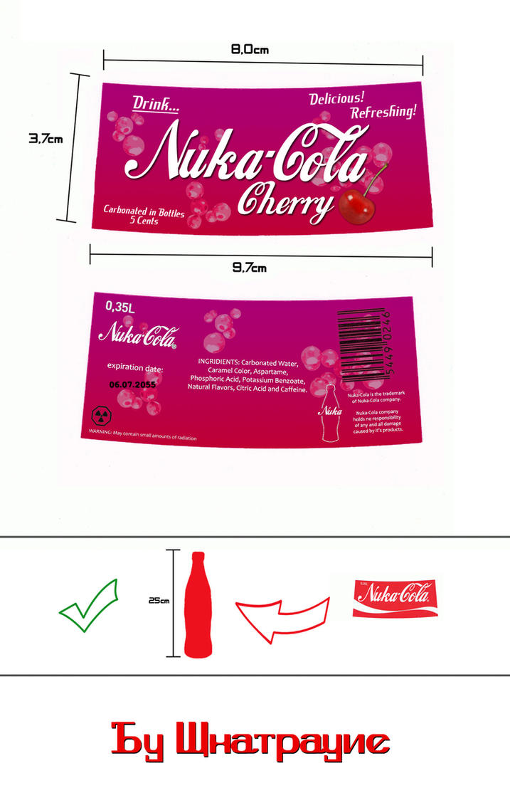 Nuka-Cola Cherry label by Whatpayne