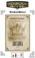 Arcadia Merlot label