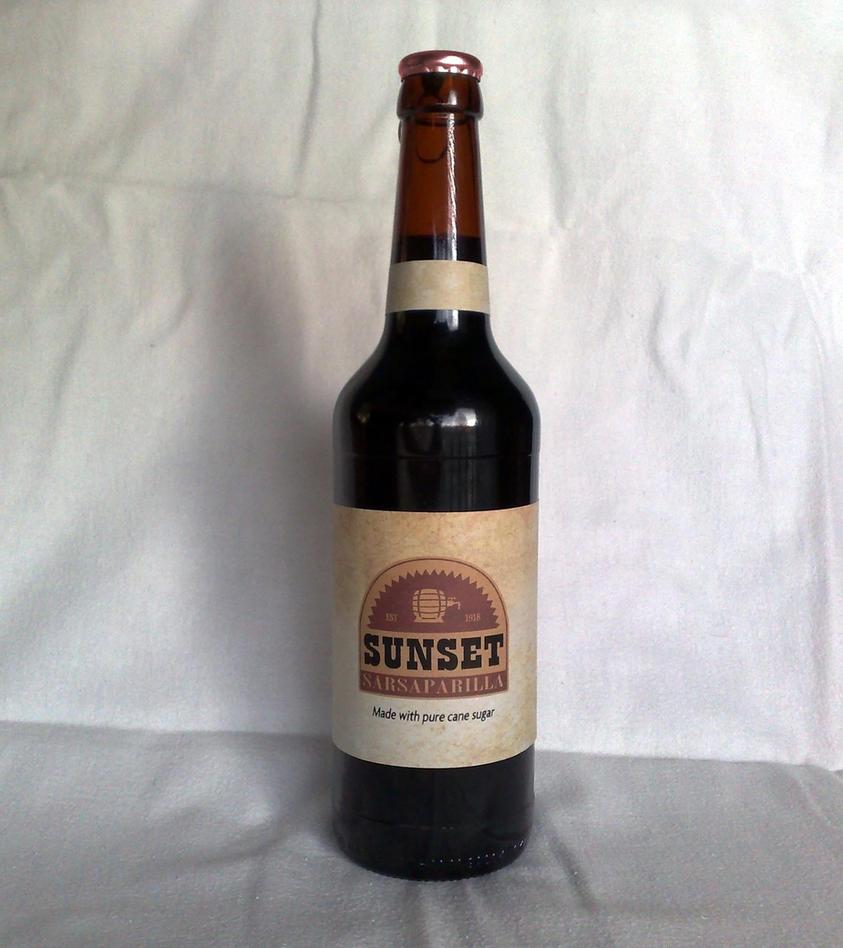 Sunset Sarsaparilla Bottle by Whatpayne