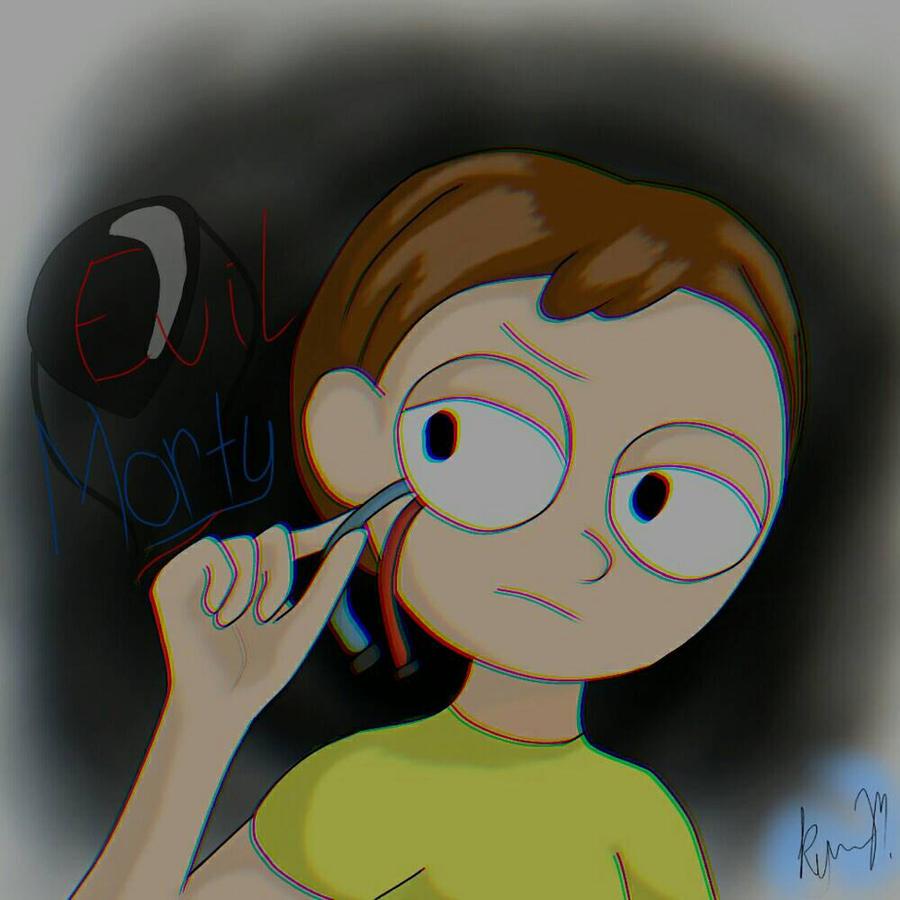 Evil Morty- '' Where's the transmitter? '' R+M by X-KyaraSomikoCat-X