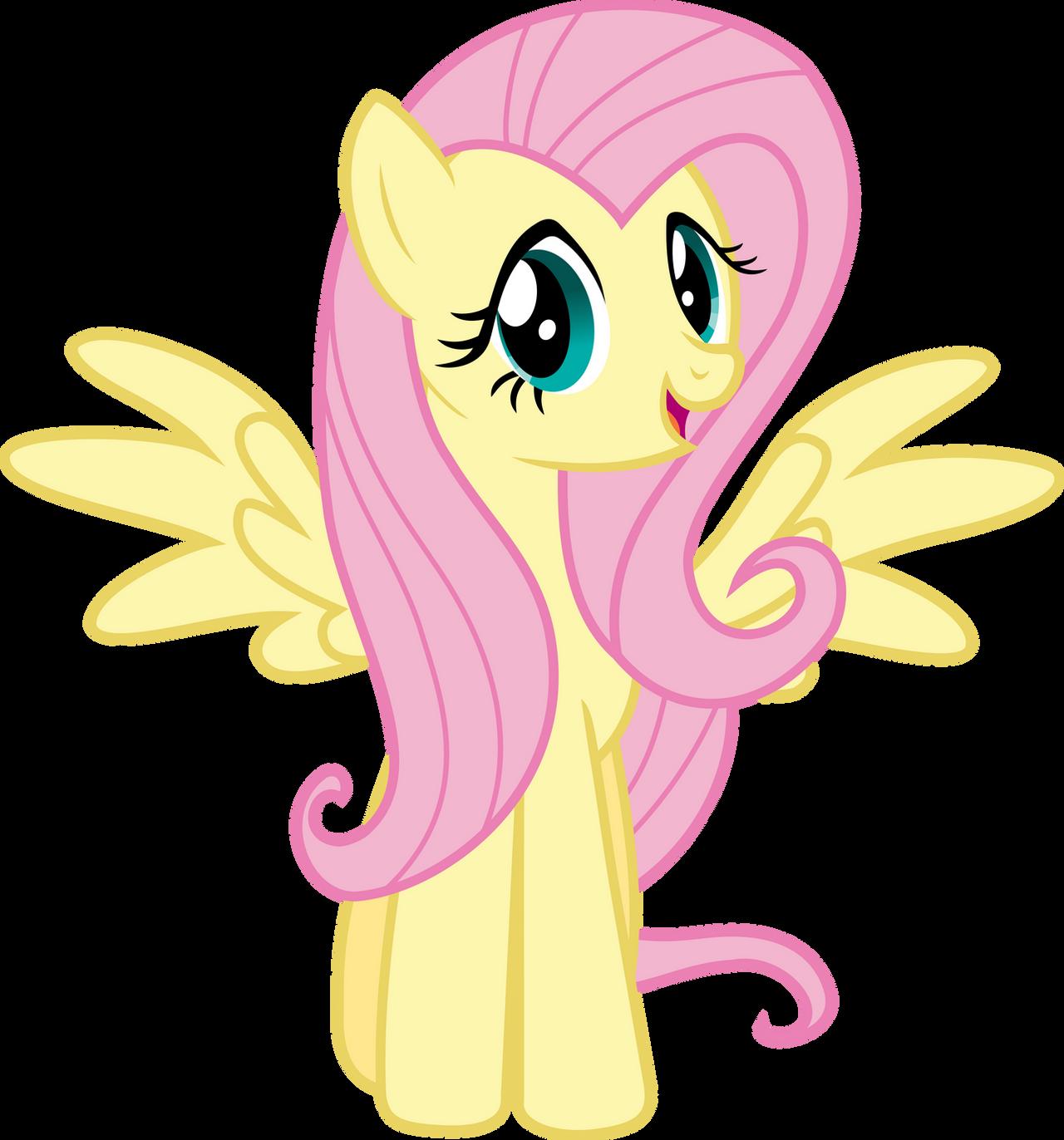 Fluttershy Happy Vector