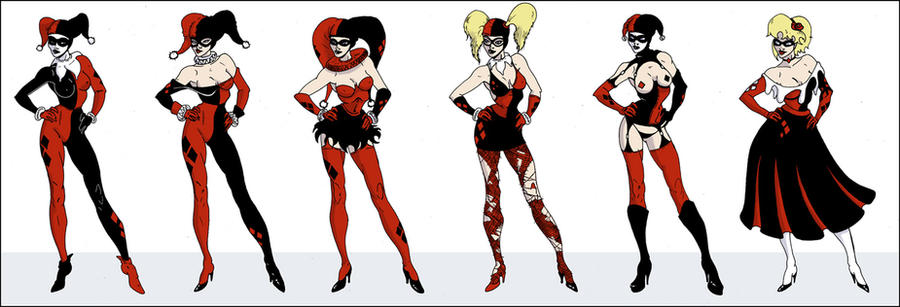 Harley Quinn Outfits By Davethecat On DeviantArt