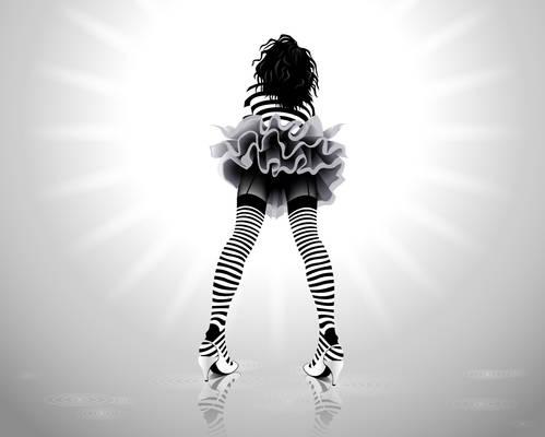 stripe girl