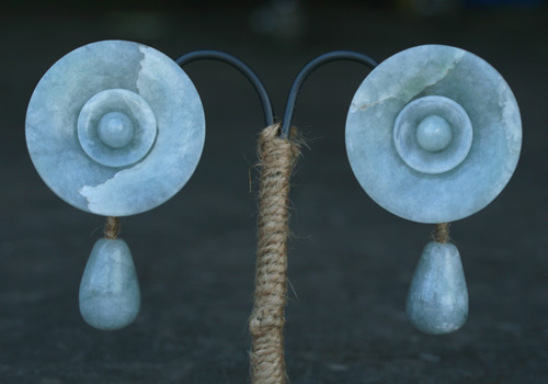 Maya Jadeite Ear Flare Repro by zerovisual