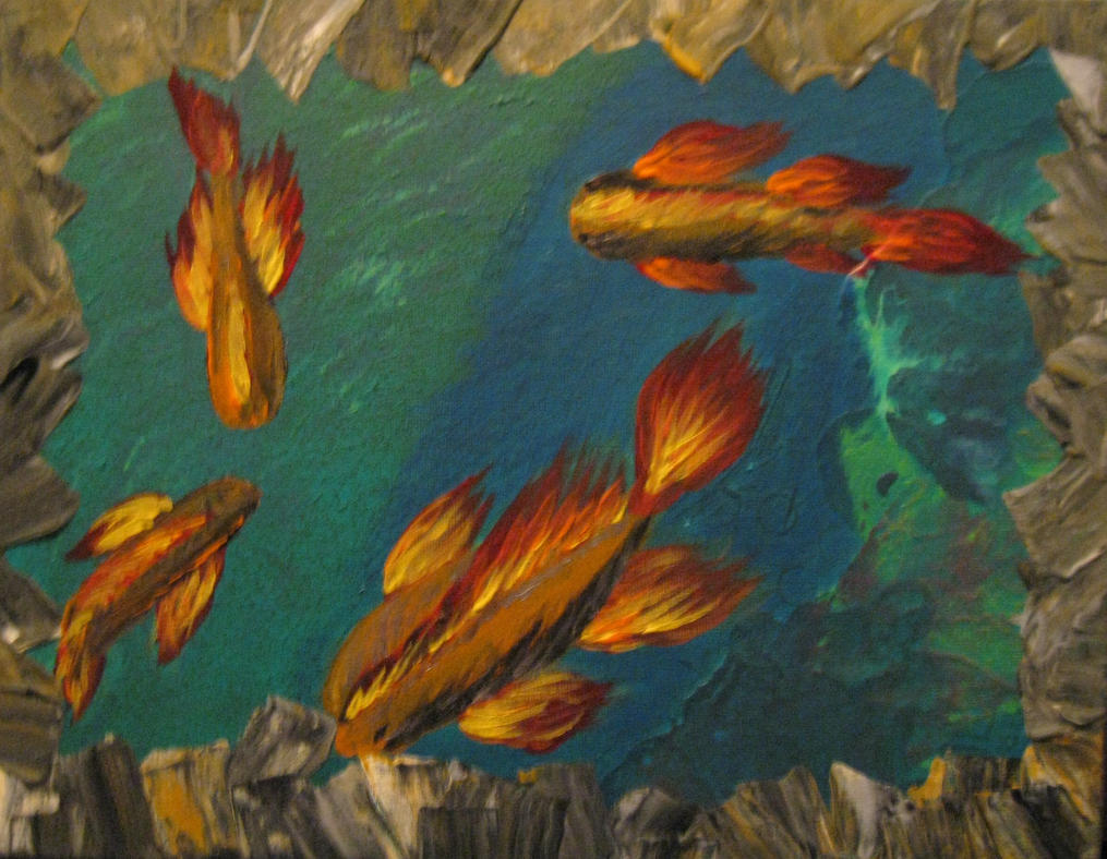 Fire fish by dbossell on deviantart for Fish on fire