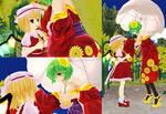Flandre Scarlet and Yuuka - Friendly Encounter