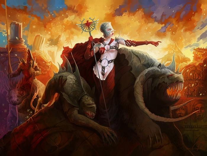Furious master of monsters by GuzBoroda