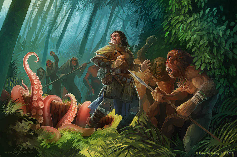 Baboons by GuzBoroda