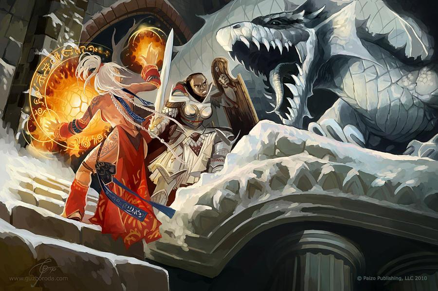 White Dragon by GuzBoroda