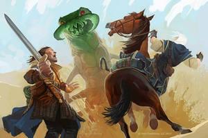 Ankheg fight by GuzBoroda