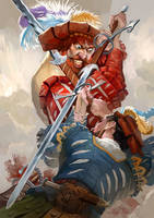 Landsknecht fight by GuzBoroda