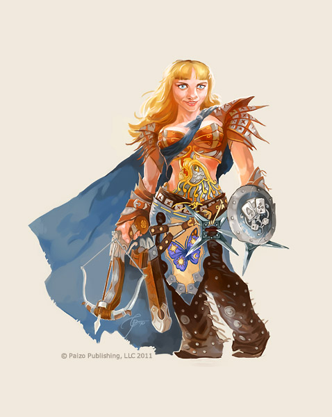 Female dwarf by GuzBoroda