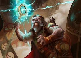 Steampunk dwarf by GuzBoroda