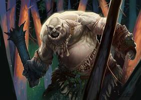 Forest Ogre by GuzBoroda