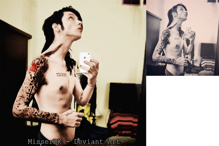 Andy Biersack Colorize + Action by MisserBK