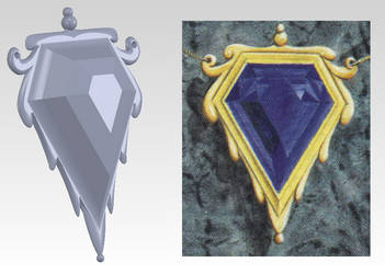 Mox Sapphire 3D design by Henry-Crun