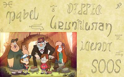 Gravity Falls Ambigram Set by Henry-Crun