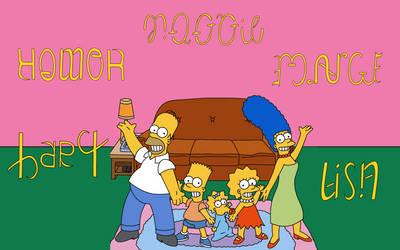 Simpsons Ambigram Set by Henry-Crun
