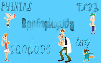 Phineas And Ferb Ambigram Set by Henry-Crun