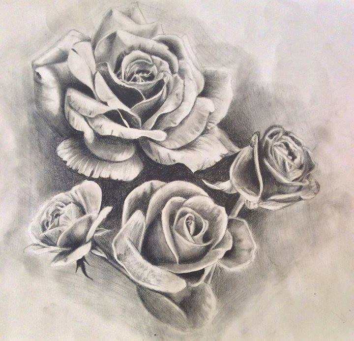 roses tattoo design drawing by pufferfishcat on deviantart. Black Bedroom Furniture Sets. Home Design Ideas