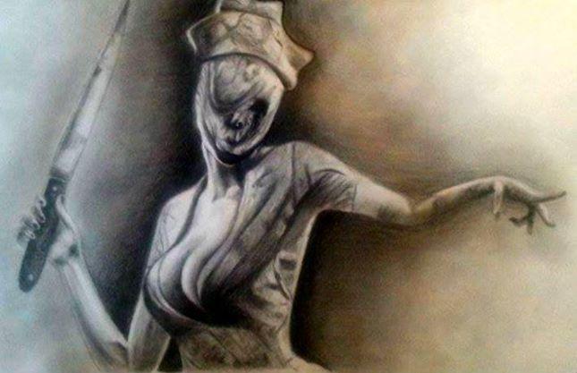 Silent hill nurse by PufferfishCat