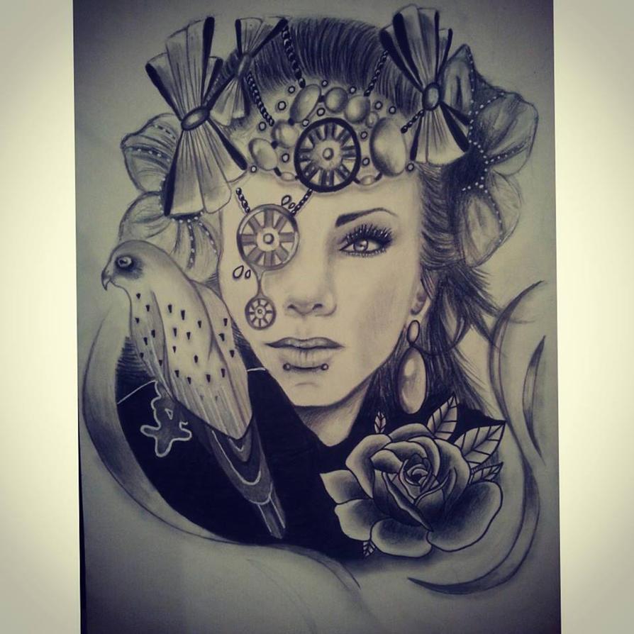 Lady design by PufferfishCat