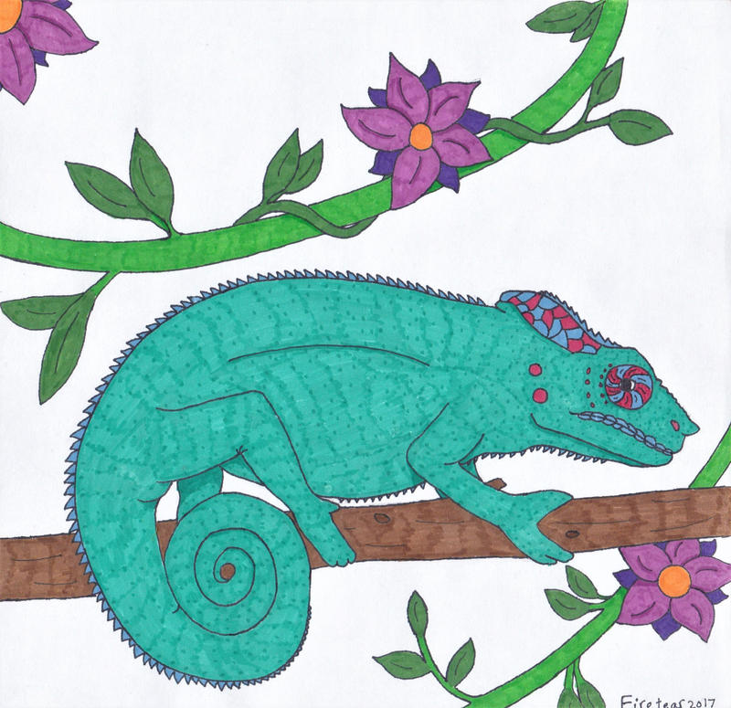 Panther Chameleon by Firetear501