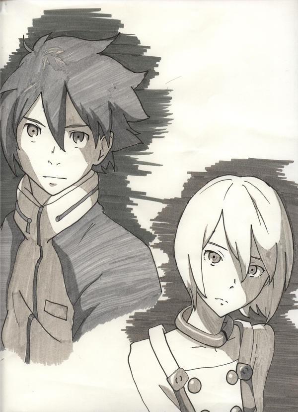 Eureka and Renton by HarunaMizuhara