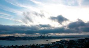 Quiet sunset over Auckland