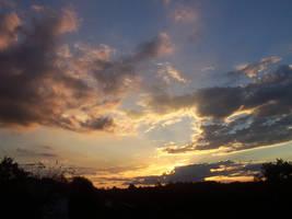 Sunset up high