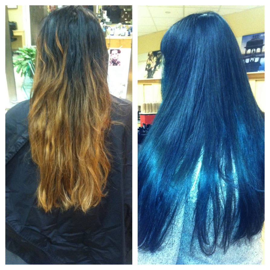 Before And After Aveda Dark Emerald Green Hair By Hiimgaymolly On