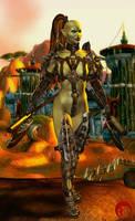 Orc Warrior by Raddar