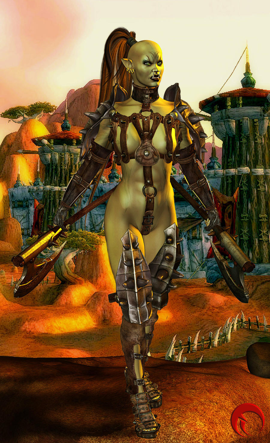 Matchless theme, female orc warrior