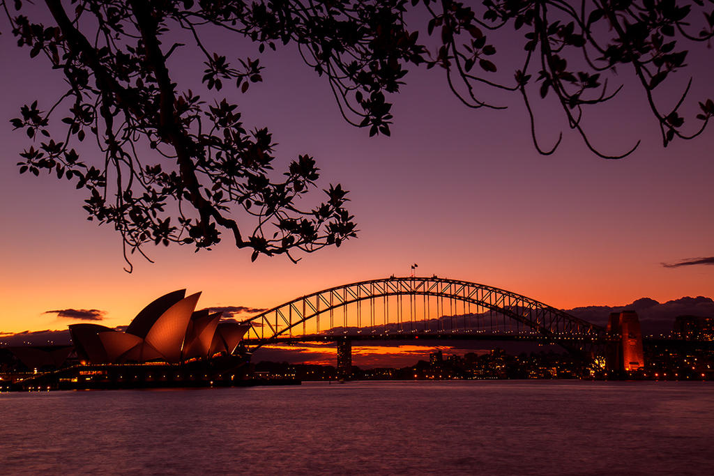 Opera House and Harbour Bridge by YourFavoriteProfil
