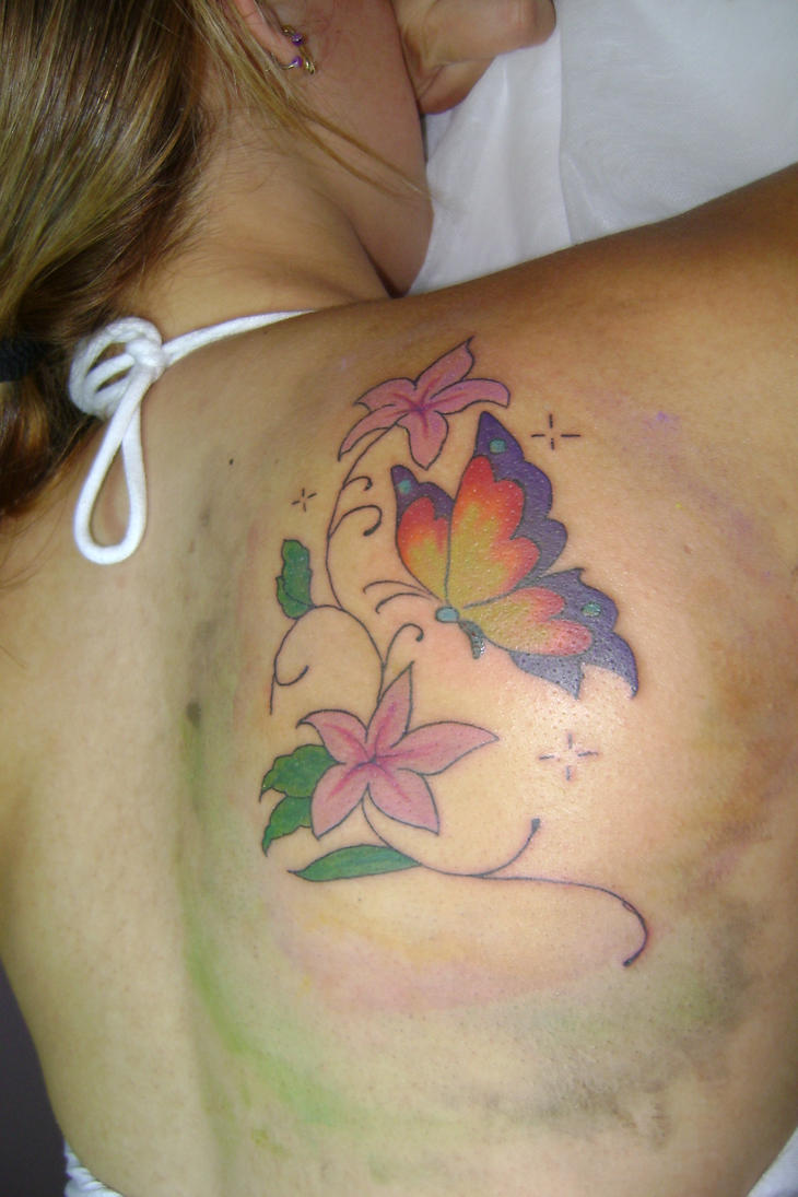 tattoo butterfly d by