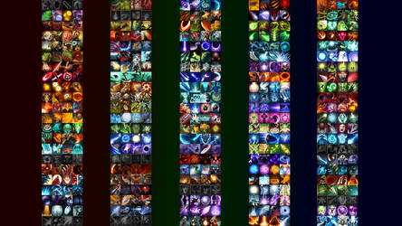 (Old) Dota 2 Spell Icons Wallpaper by HTML-Earth
