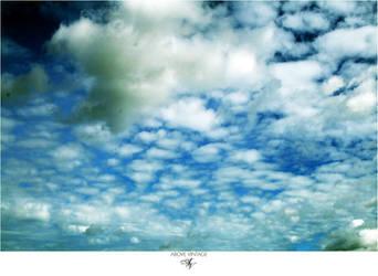 Patchwork Clouds - Sky Stock by AboveVintage