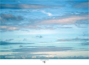 Stripey Blue - Sky Stock by AboveVintage