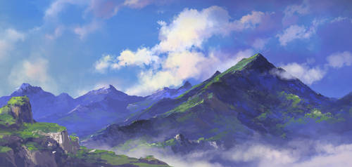 mountain by artcobain