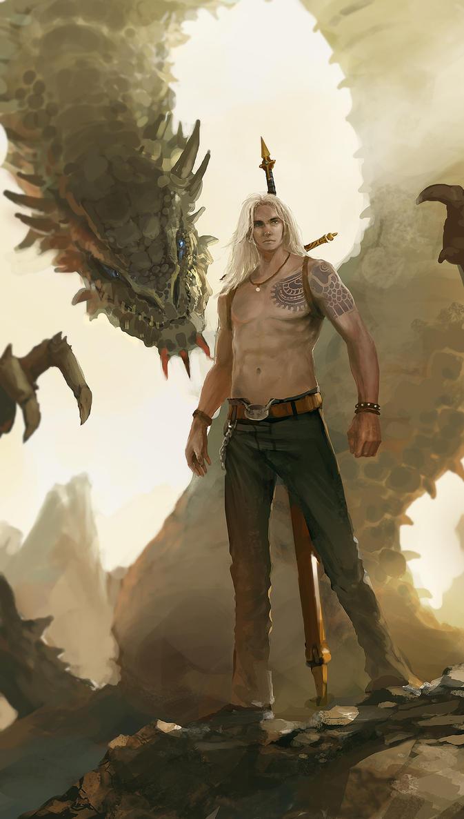 Dragon Slayer by artcobain