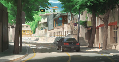 Street scenery by artcobain