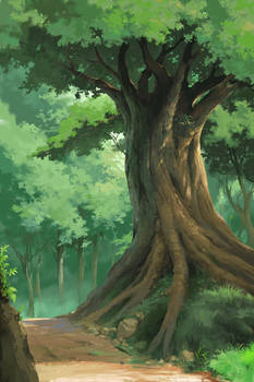 jhibli style (tree)