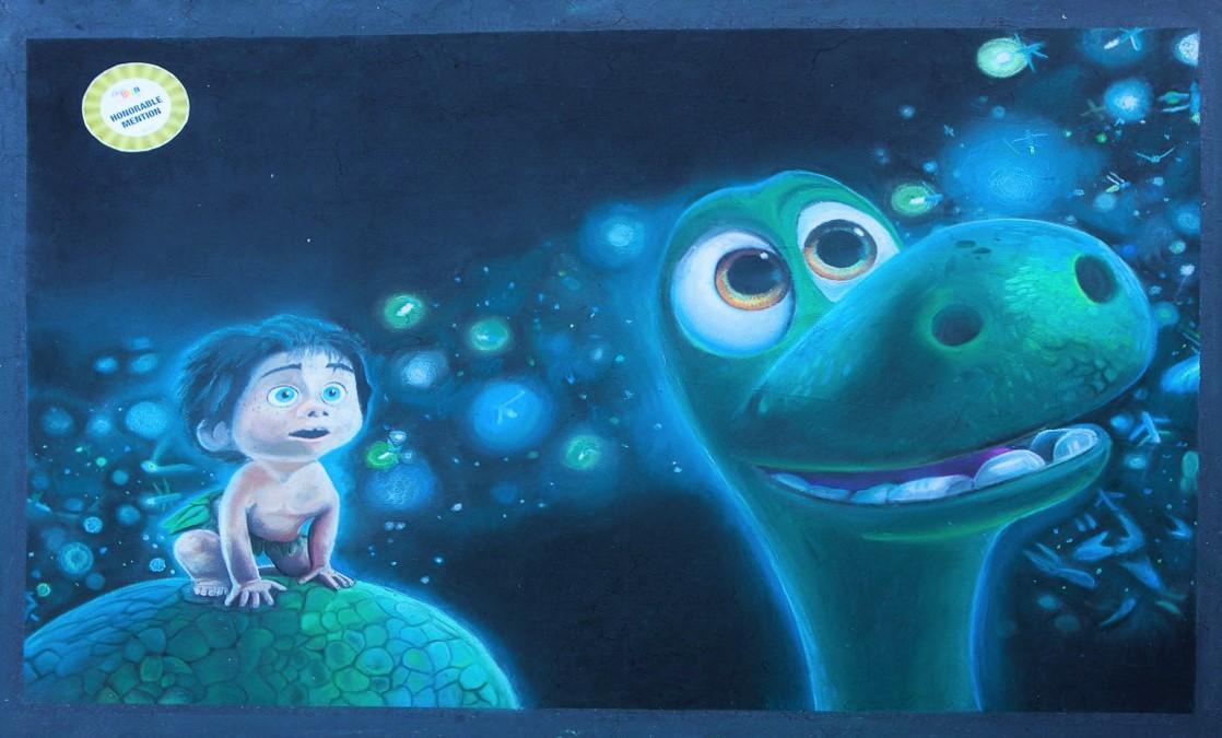 The Good Dinosaur Chalk Art by xWolfie36x