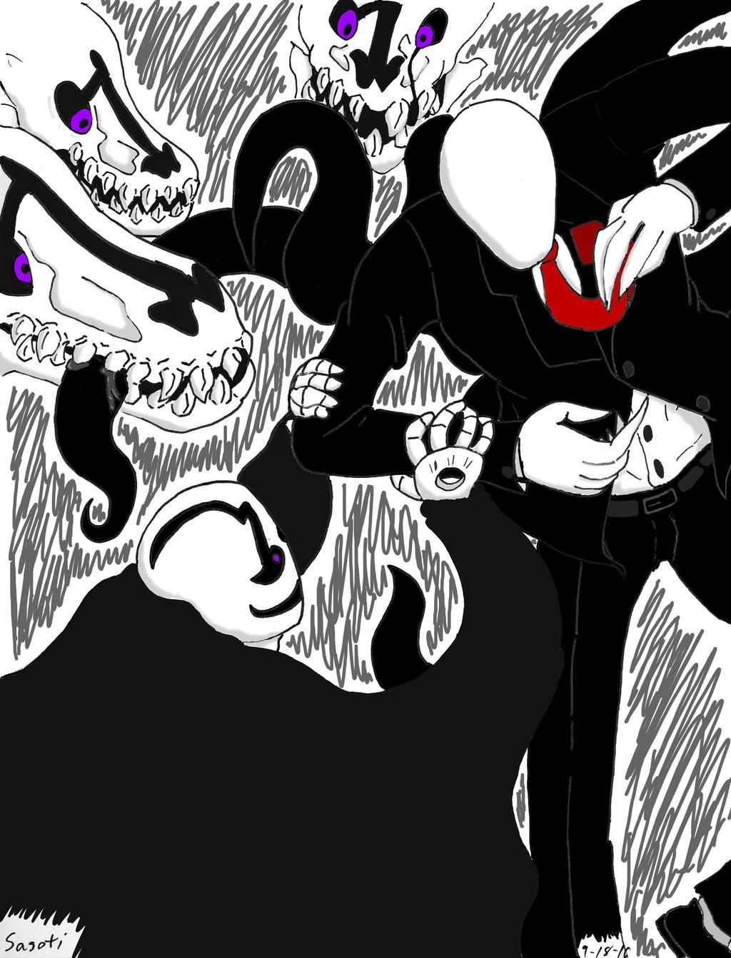 Doodle Fights Slendy Vs Gaster