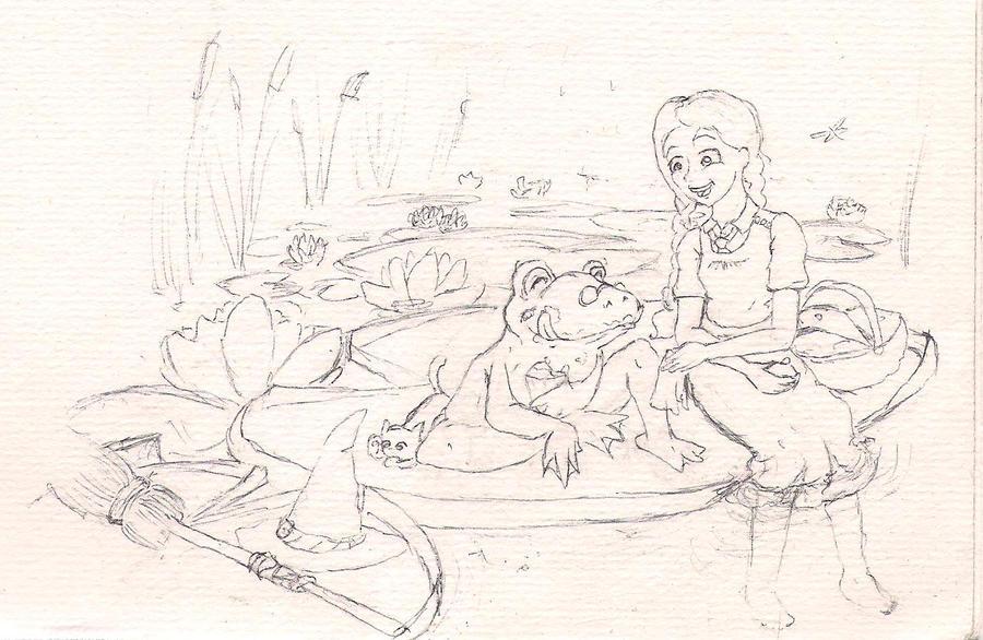 """Фанарт по """"Самой плохой ведьме"""" - Страница 4 WIP_Mildred_and_the_Frog_by_RainbowAquila"""