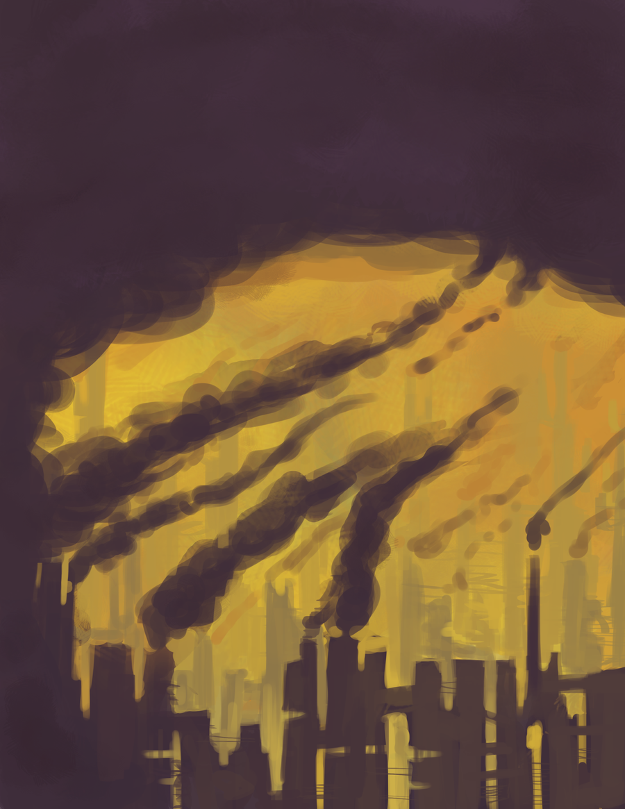 Speed paint: Factories by SunflowerSmash