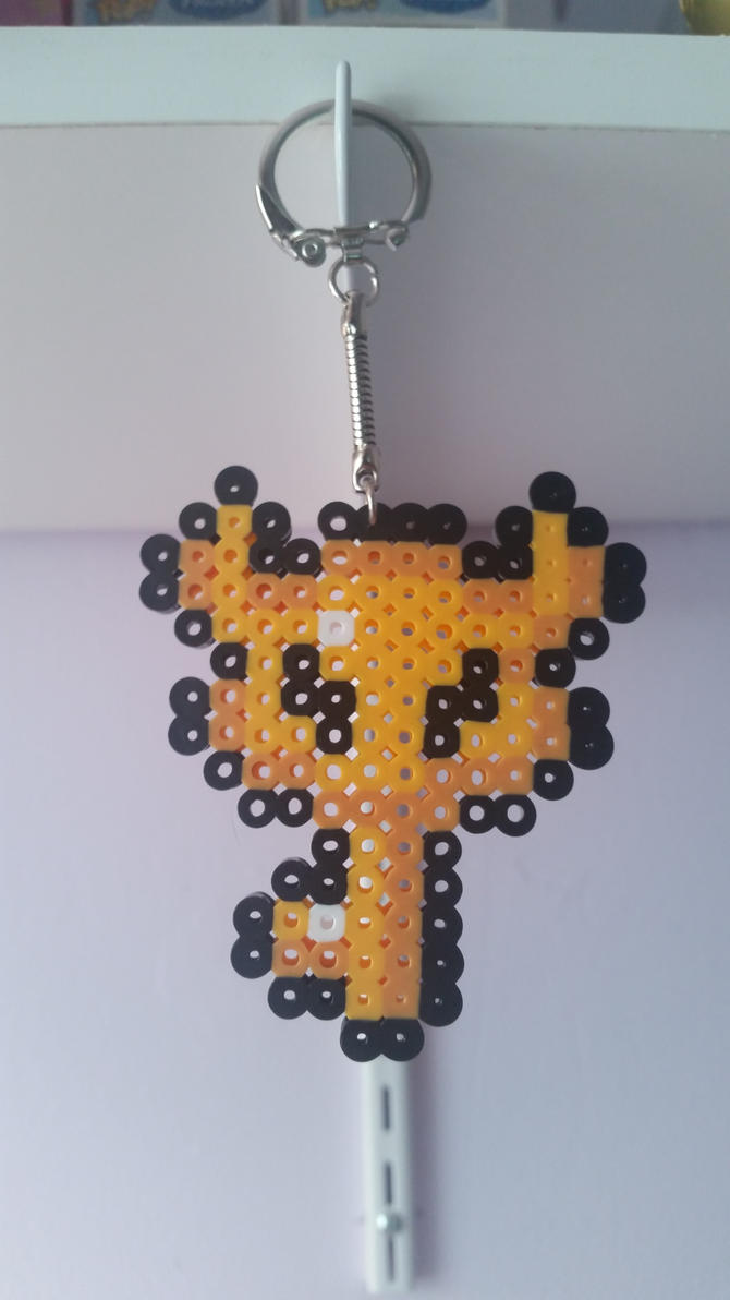 Zelda Boss Key Perler Keychain by Zarai13