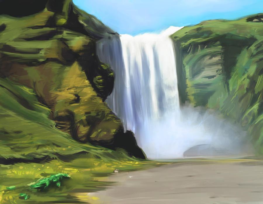 Waterfall by YenSilence
